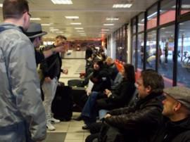 Abschied von Berlin am Flughafen Schönefeld