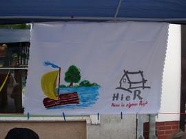 Unser Floßparade-Segel
