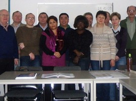 Teilnehmer des Migrationscenters in Spandau