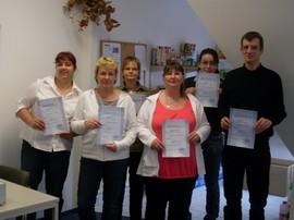 Teilnehmer am Kassentraining in Königs Wusterhausen