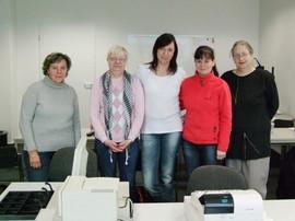 Teilnehmerinnen des Moduls Kassentraining