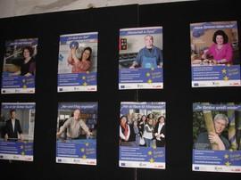 Werbefolien zur Informationskampagne »Europa ist hier!«