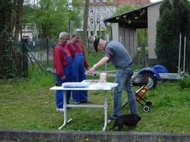 Die Grillmeister am Werk