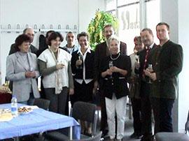 Das damalige Gubener Team mit Schulleiterin Margitta Geisler