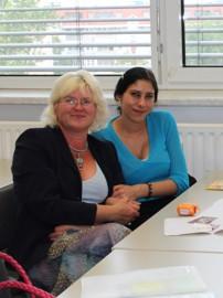 Frau Wiese mit einer Teilnehmerin