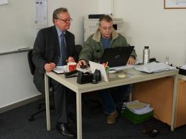 Herr Dr. Gaube und Herr Janz