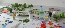 Blütenbasteln und Blumendruck