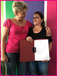 Frau Lichtenberg-Benndorf und Emine