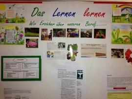 Plakat der Erzieher zum Thema Lernen lernen