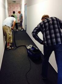 Reinigung textiler Fußböden