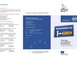 Flyer zur neuen Weiterbildungsrichtlinie