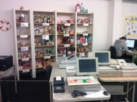 Kassen- und Verkaufsbereich