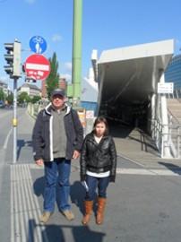 Steffi und Herr Gehrke unterwegs zum Praktikumsplatz