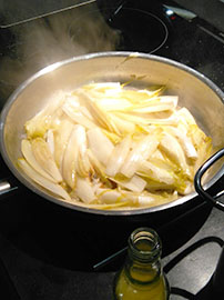 Fenchel-Ananas für die Vorspeise