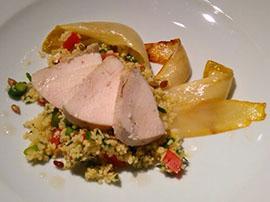 Die Hauptspeise: Couscous mit Gemüse und Hähnchen