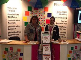 Frau Sommerfeldt und Frau Völlger auf der Märkischen Bildungsmesse Potsdam