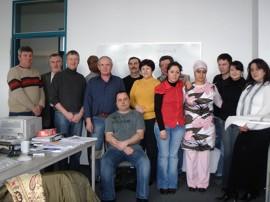 Gruppe mit Herrn Gradhand und Herrn Dr. Hübner