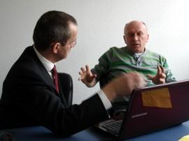 Thomas Rauh und Matthias Scharlach im Gespräch