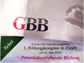 Die GBB mbH auf dem Bildungskongress in Zürich