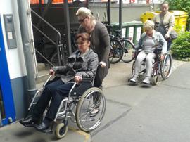 Rollstuhltraining bei der DRK