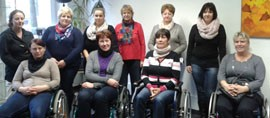 Rollstuhltraining für FlexiBil-Teilnehmer