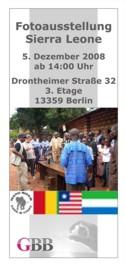 Flyer zur Fotoausstellung