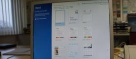 Startbildschirm von Word 2013