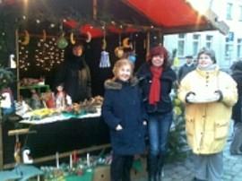 Auf dem Weihnachtsmarkt.